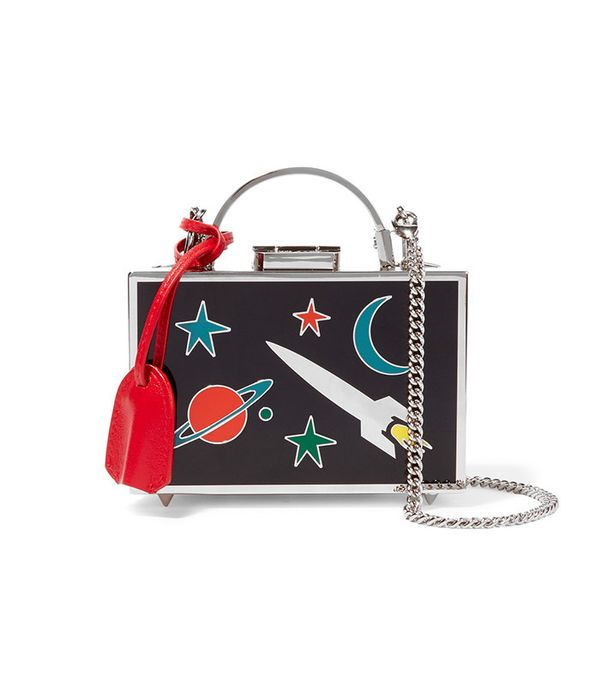 Grace Mini Metal and Enamel Shoulder Bag by Mark Cross