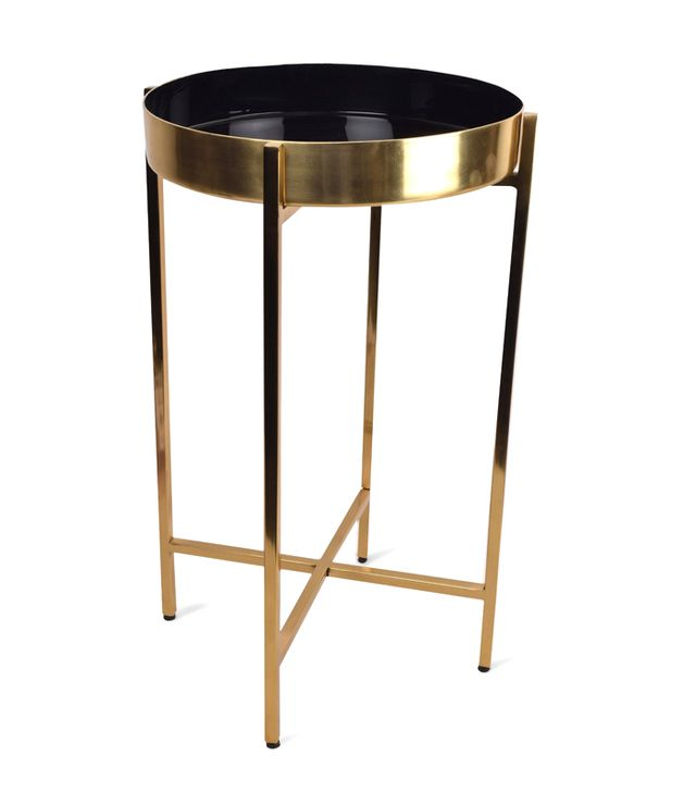 Inspirational Target Metal Black Accent Table