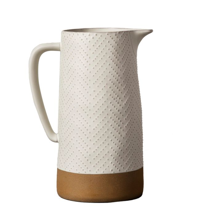 Hearth & Hand With Magnolia Textured Stoneware Pitcher