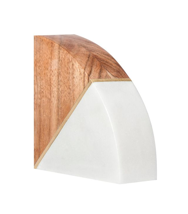 Project 62 Marble and Wood Bookend