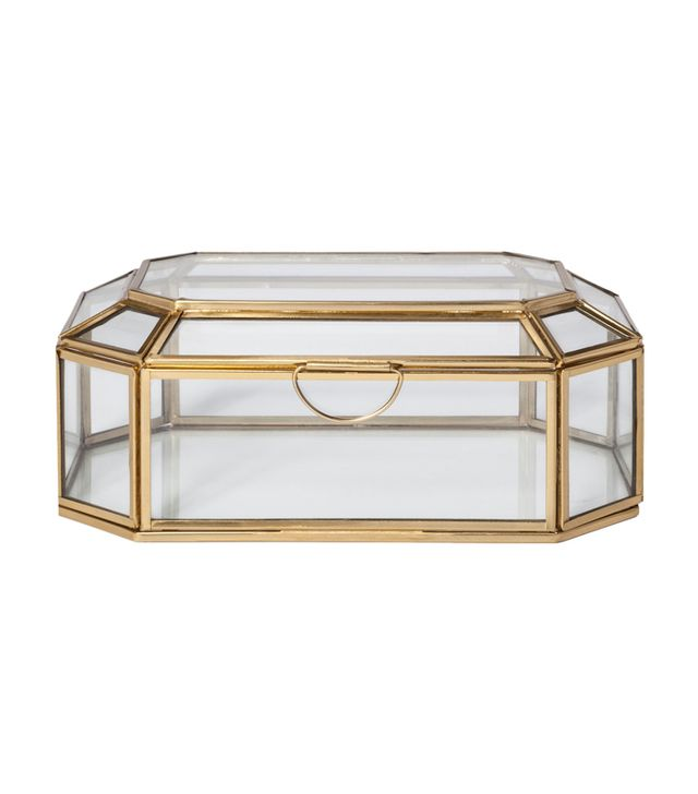 Project 62 Glass and Gold Display Box