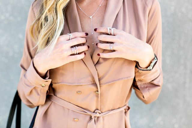 "When it comes to everyday jewelry, consider Lapides's go-to pieces like stackable rings, a delicate necklace, and diamond studs. ""Your jewelry is where you can show some of your..."