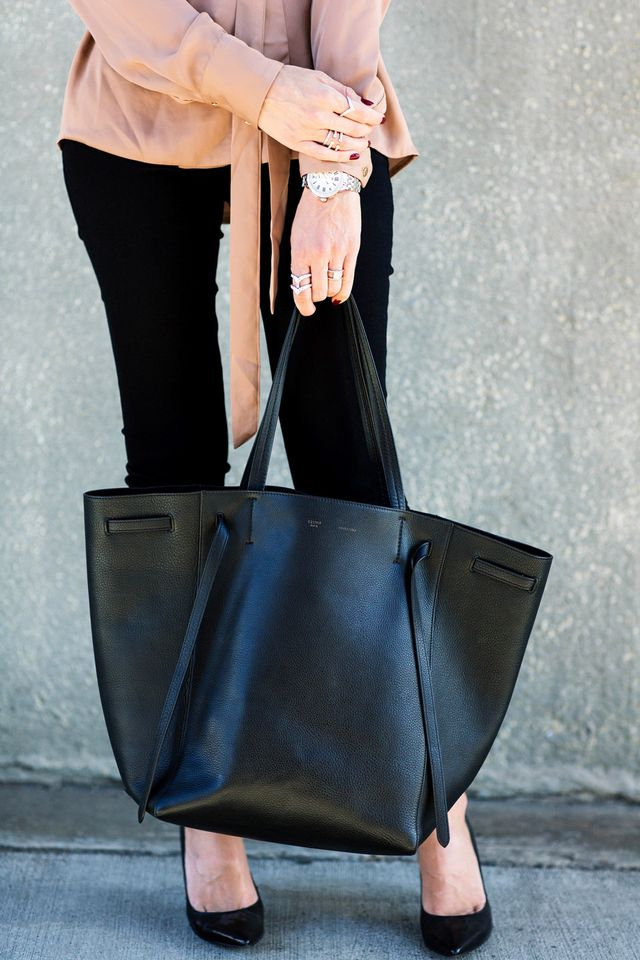 "Another tip from Lapides: ""A great bag for toting around all of your must-haves is key,"" she says. Find one you can wear with pretty much any outfit and you won't have to..."