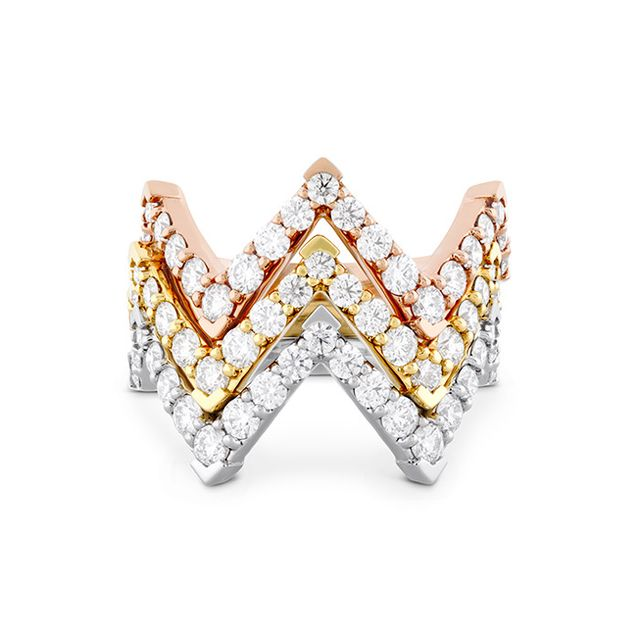 Hearts On Fire Triplicity Pointed Diamond Ring