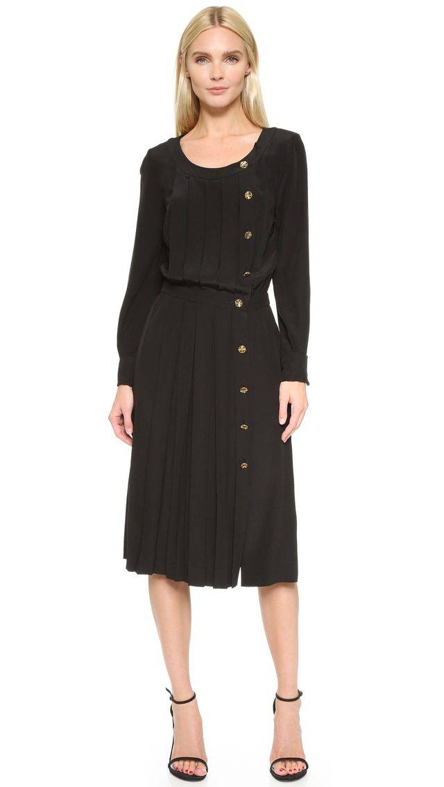 Chanel Vintage Pleated Dress