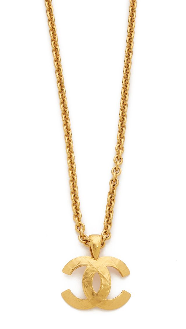 Chanel Vintage Quilted CC Necklace