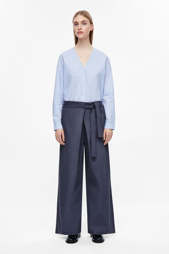 COS Tie Detail Straight-Leg Trousers
