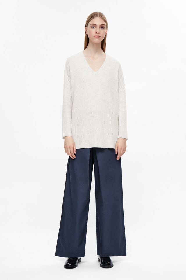 COS Waffle Knit Cashmere Jumper