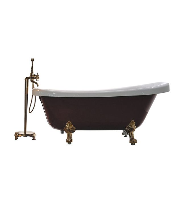 Legion Furniture Brass Finish Clawfoot Freestanding Tub