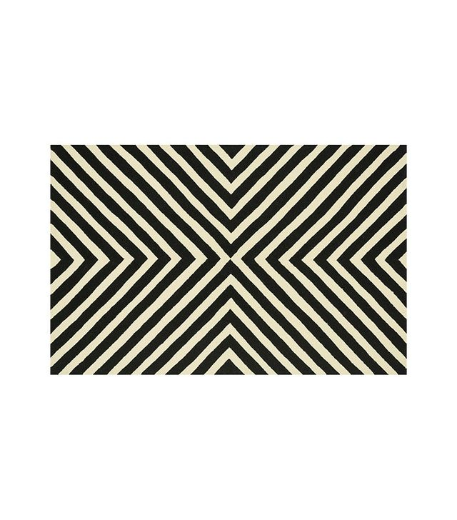 Loloi Palm Springs Black and Ivory Rug