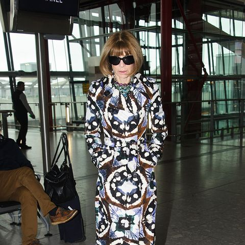 This Is What Anna Wintour Looks Like at the Airport