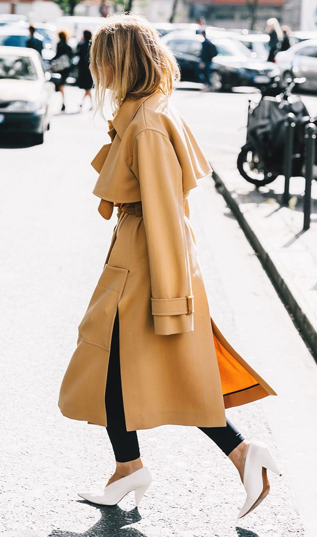 Paris Fashion Week street style shoe trend.