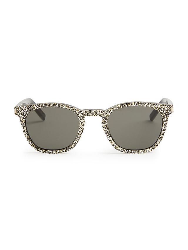 Saint Laurent D-Frame Glitter Sunglasses