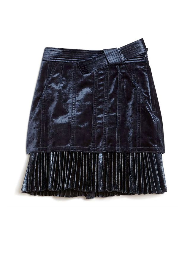 3.1 Phillip Lim Suede Sculpted Skirt