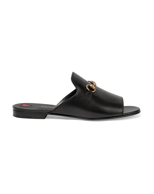 Gucci Horsebit-Detailed Leather Slides