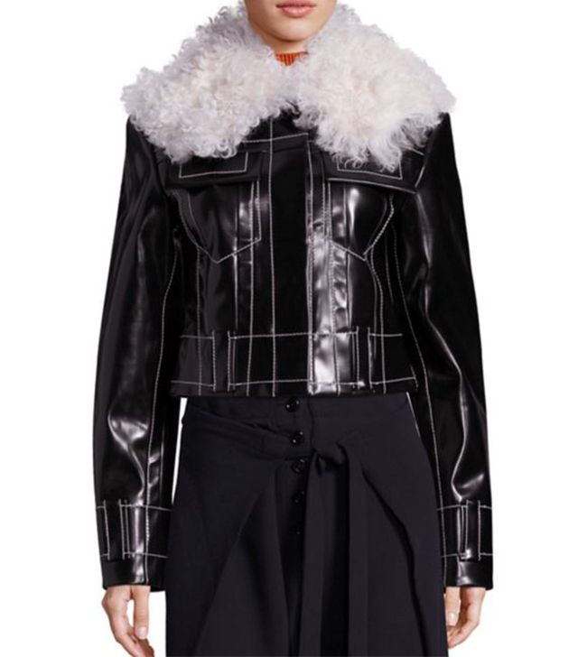 Proenza Schouler Faux Fur and Faux Leather Jacket