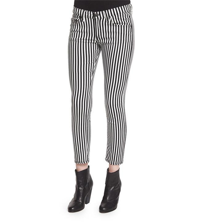 Rag & Bone Bengal Striped Capri Jeans