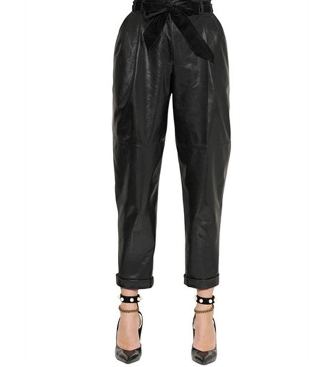 Philosphy di Lorenzo Serafini Pleated Patent Leather Pants