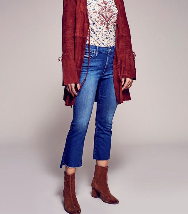 Free People Insider Step Fray Crop Jeans