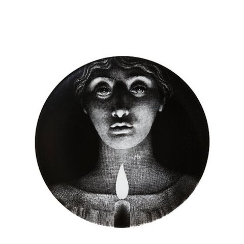 """""""Woman's Face With Candle"""" Plate"""
