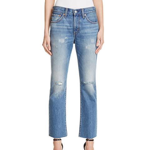 Crop Kick Flare Jeans