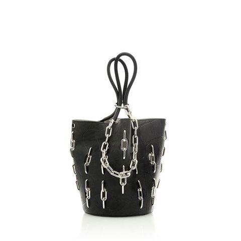 Roxy Large Tote With Chain Inlay