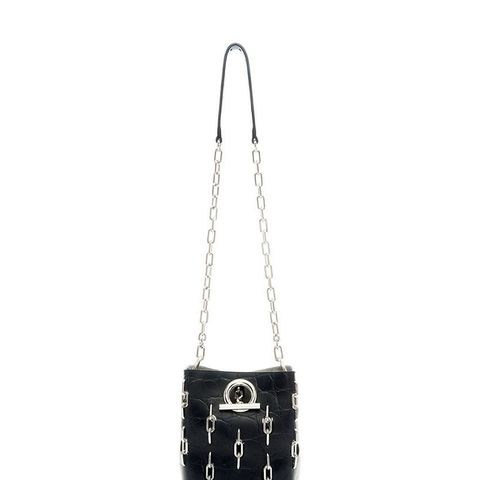 Riot Cross Body Embossed Bag With Chain Inlay