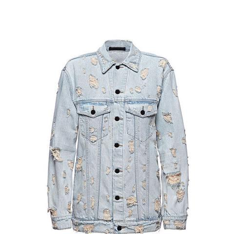 Daze Scratch Oversized Denim Jacket