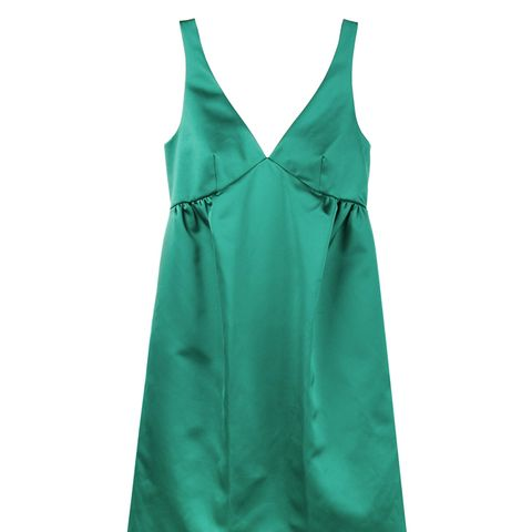 Green Silk Slip Dress