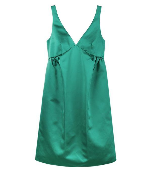 Best party dresses: Rochas Green Silk Slip Dress
