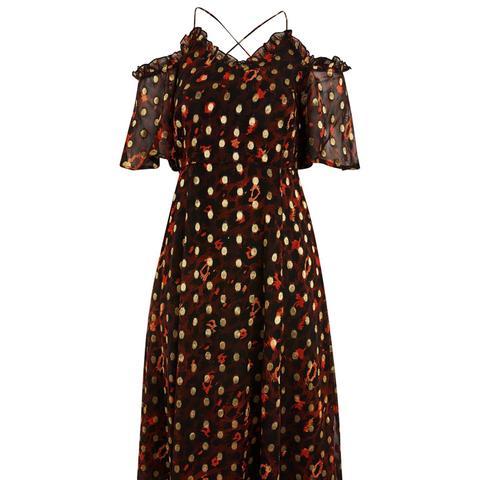 Leopard Spot Midi Dress