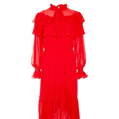 Ruffle Lace Skater Dress