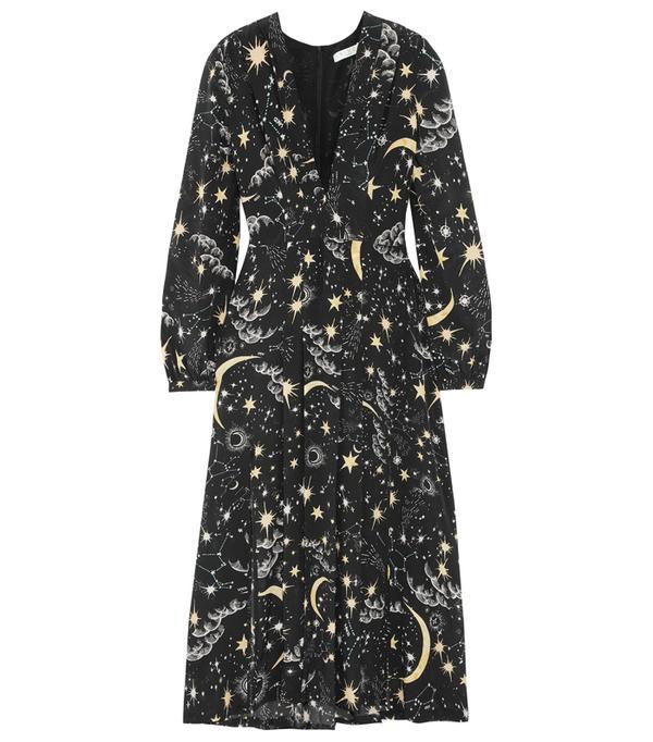 Best party dresses: Monse Cold-Shoulder Polka-Dot Silk-Blend Crepe Midi Dress