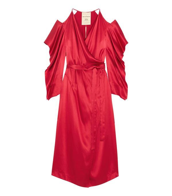 Best party dresses: Topshop Ruche Slip Dress by Boutique