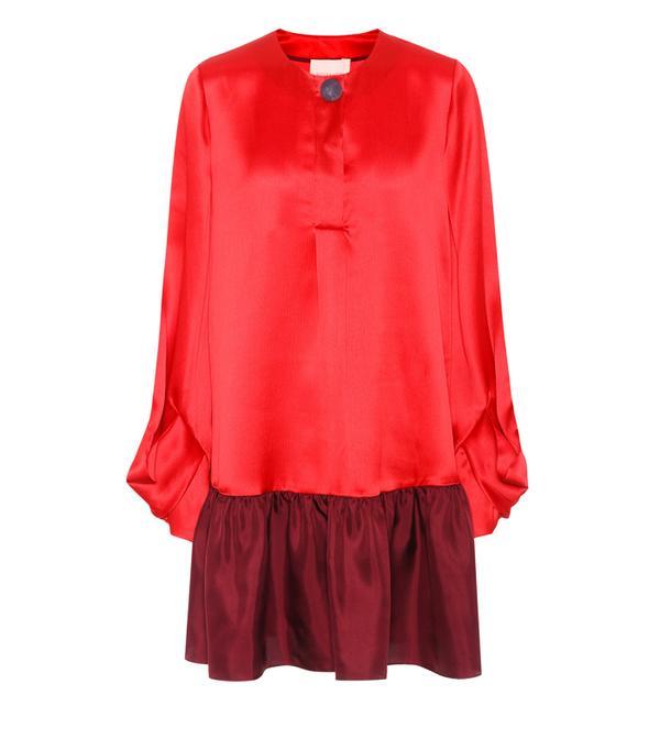 Best party dresses: Attico Raquel Satin Wrap Dress