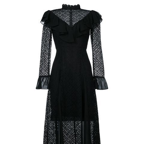 Prairie Lace Ruffle Dress