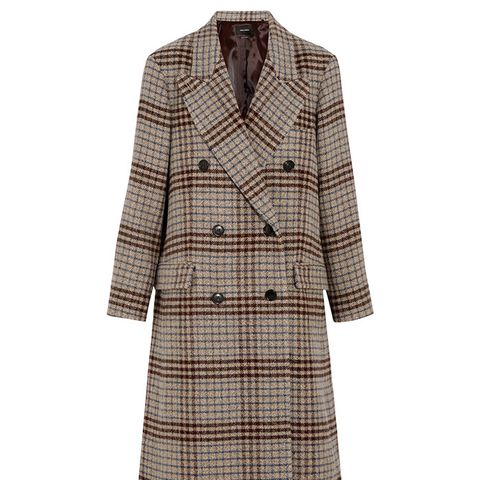 Flint Plaid Wool Coat
