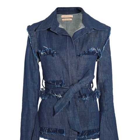 George Frayed Denim Jacket