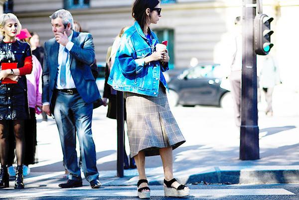 On Natasha Goldenberg: Balenciaga Swing Jacket($995).