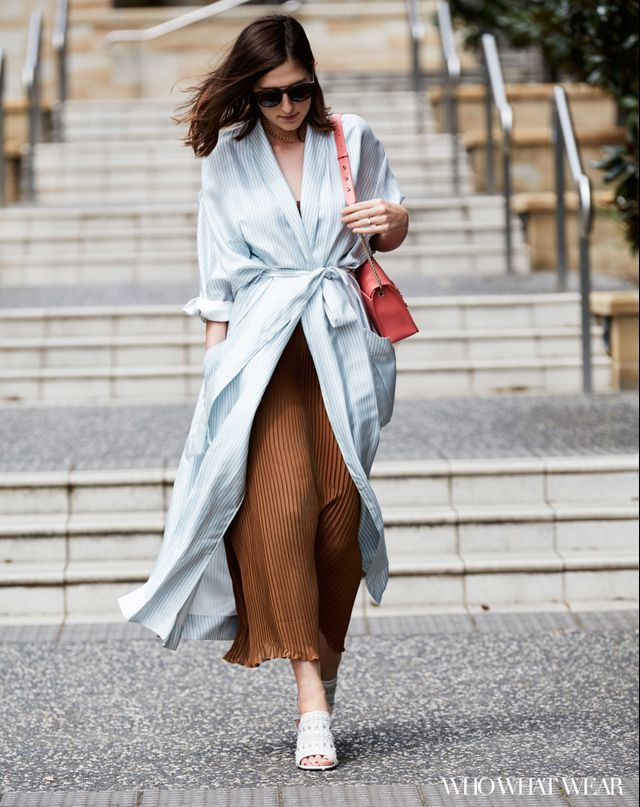 What I'm wearing: Zimmermann Winsome Robe ($795), Lonely Label dress (coming soon), Senso Niko Mules ($285), Furla Metropolis Bag ($649), Bauble Bar Phoebe...
