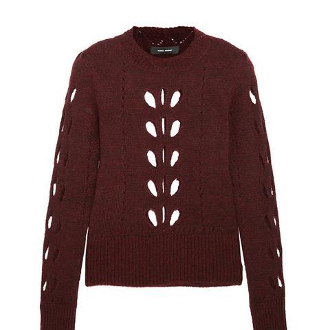 Ilia Cutout Pointelle-Knit Sweater