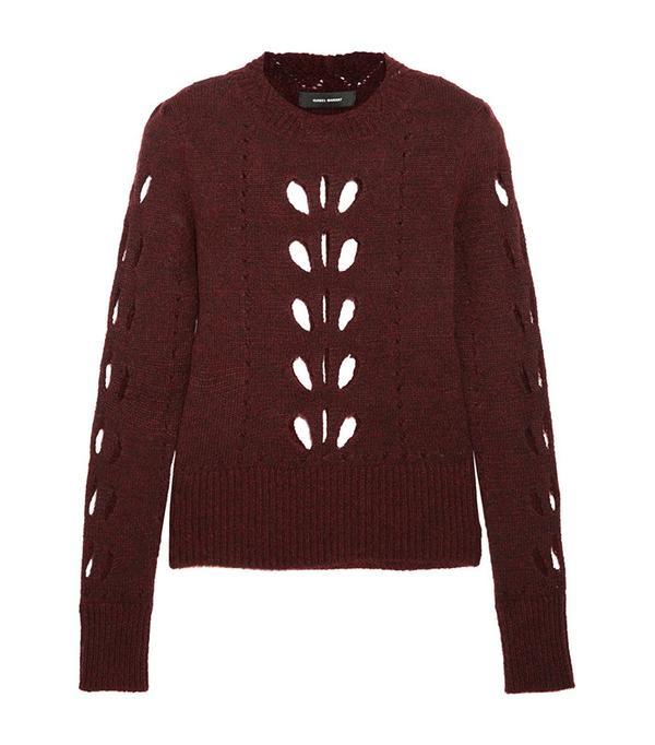 Isabel Marant Ilia Cutout Pointelle-Knit Sweater