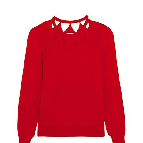 Woodward Cutout Merino Wool Sweater