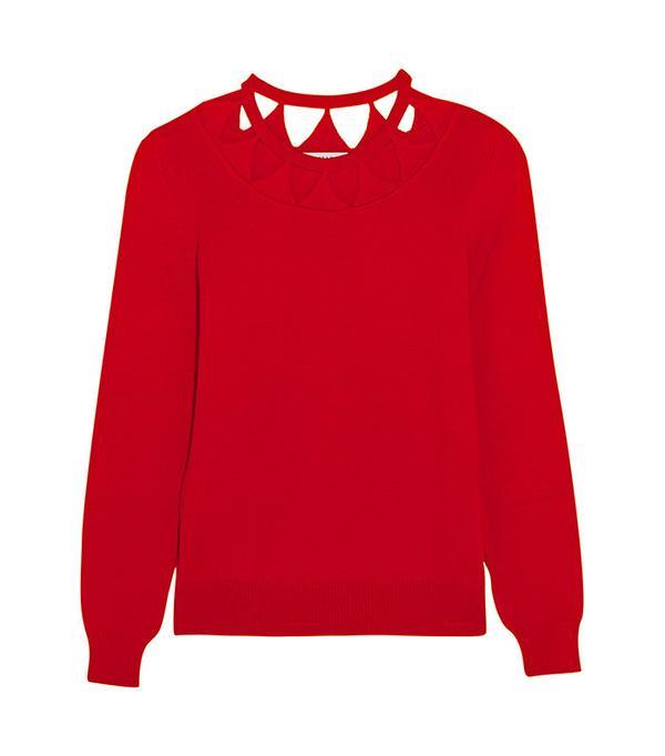 Altuzarra Woodward Cutout Merino Wool Sweater