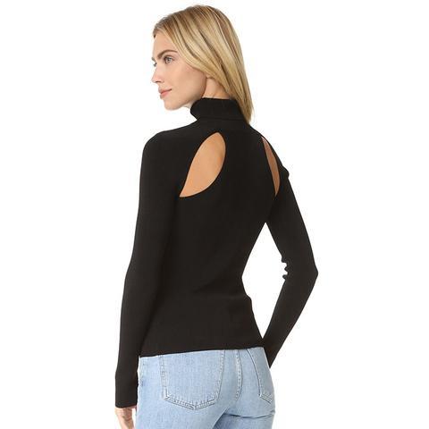 Renner Cutout Turtleneck Sweater