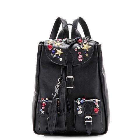 Embellished Leather Backpack