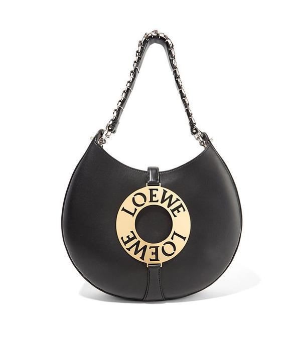 Joyce Embellished Leather Shoulder Bag by Loewe