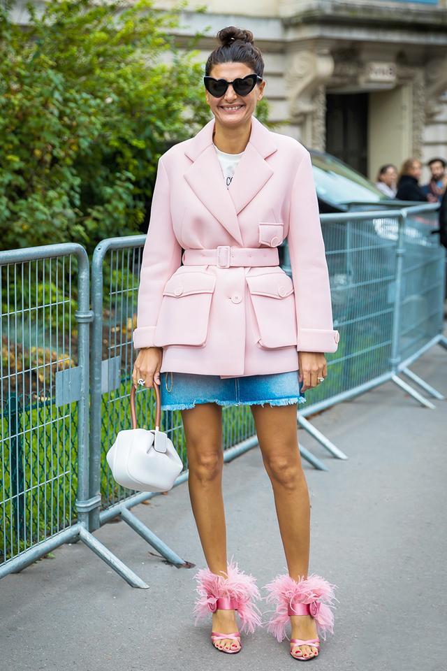 WHO: Giovanna Battaglia EngelbertWEAR:Prada shoes; Gabriela Hearst bag