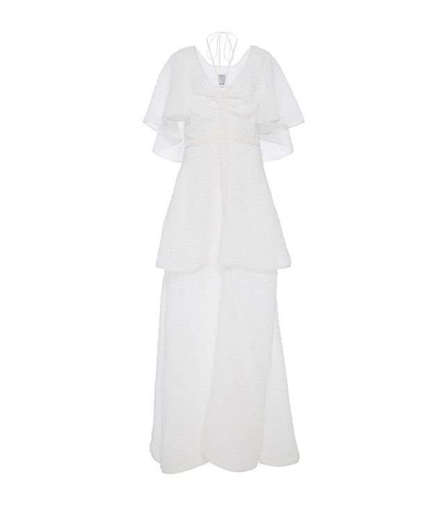 Rosie Assoulin Happy Clouds Tie Neck Gown