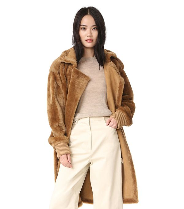 Shearling Military Coat Tibi
